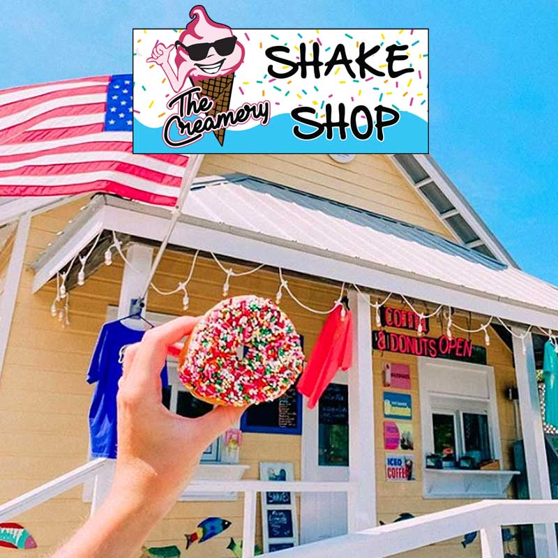 The Shake Shop is the best place to get coffee and donuts in Santa Rosa Beach and 30A Florida. We have shaved ice, milk shakes and frozen custard too.